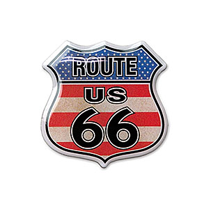 Route.66(ルート66)ピンバッジ「RT.66 SHIELD - FLAG」