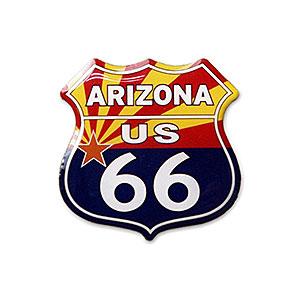 Route.66(ルート66)ピンバッジ「RT.66 SHIELD - ARIZONA FLAG」