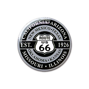 Route.66(ルート66)ピンバッジ「RT.66 SHIELD - ROUND」
