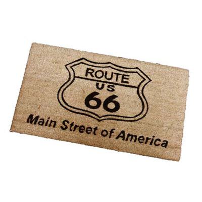 Route.66(ルート66)室外玄関用フロアマット「ROUTE 66 - BROWN」