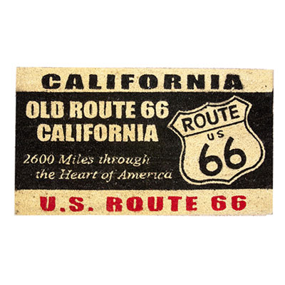 Route.66(ルート66)室外玄関用フロアマット「ROUTE 66 - CALIFORNIA」