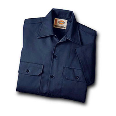 Dickies(ディッキーズ)ワークシャツ ショートスリーブ<半袖>  ダークネイビー