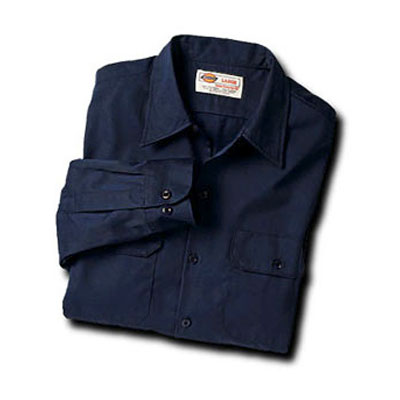 Dickies(ディッキーズ)ワークシャツ ロングスリーブ<長袖> ダークネイビー