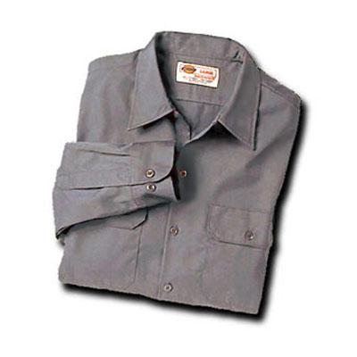 Dickies(ディッキーズ)ワークシャツ ロングスリーブ<長袖> シルバーグレー