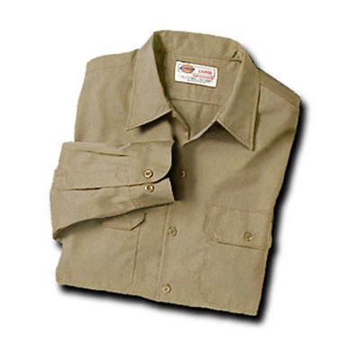 【取寄限定カラー】Dickies(ディッキーズ)ワークシャツ ロングスリーブ<長袖> カーキ