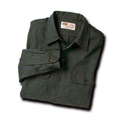【取寄限定カラー】Dickies(ディッキーズ)ワークシャツ ロングスリーブ<長袖> オリーブグリーン