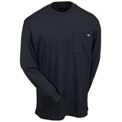 Dickies(ディッキーズ)ヘビーウェイトティーシャツ ロングスリーブ<長袖> ブラック