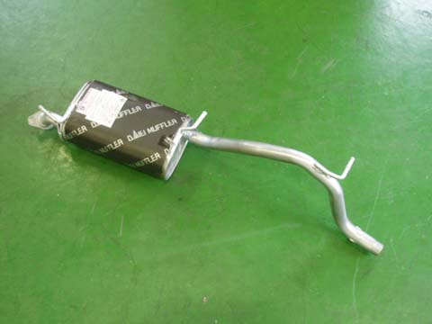 純正タイプ リヤマフラー MSS-9155SUS(スズキ Kei HN11S HN21S)車検対応 ガスケット付