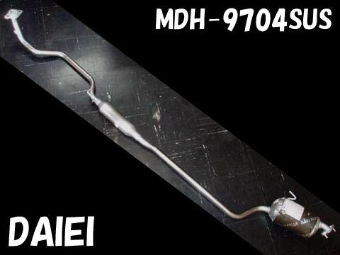 純正タイプ リヤマフラー MDH-9704SUS(ダイハツ,ミラアヴィ,L260S)車検対応、ガスケット付
