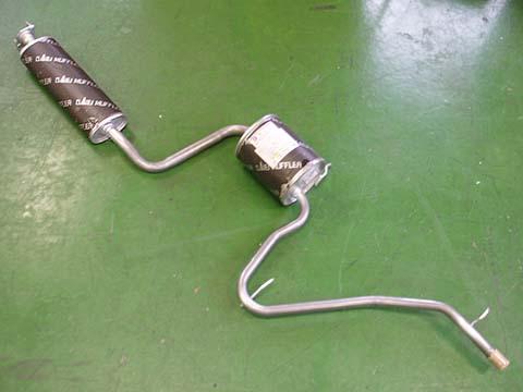 純正タイプ リヤマフラー MDH-9247(ダイハツ,ムーブ,L600S)車検対応、ガスケット付