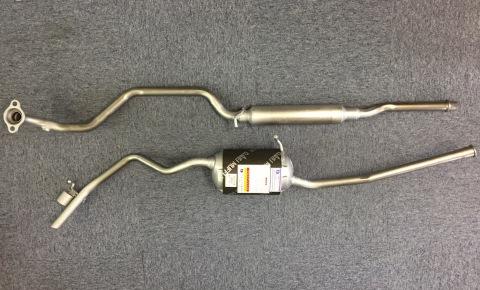 純正タイプ リヤマフラー MDH-9821SPT(スバル,プレオプラス,LA310F)<セパレート型,オールステンレス>車検対応、ガスケット付