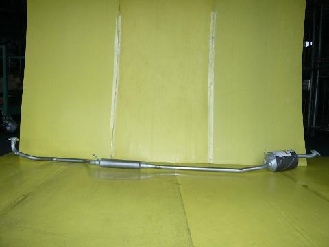 純正タイプ リヤマフラー MDH-9720SUS(スバル,ルクラ,L465F)車検対応、ガスケット付