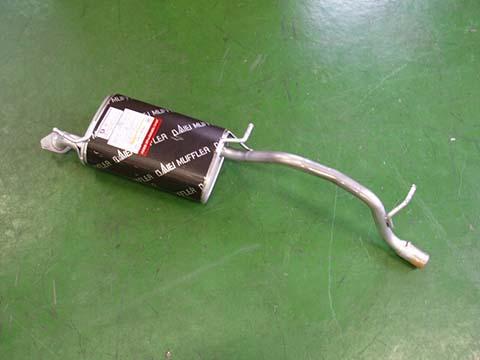 純正タイプ リヤマフラー MSS-9171SUS(マツダ,スピアーノ,HF21S)車検対応、ガスケット付