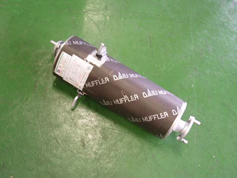 純正タイプ リヤマフラー MMD-3634(日産,バネット,SS28VN,SS28MN,SE28MN,SE28TN)車検対応、ガスケット付
