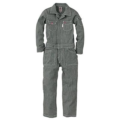 GRACE ENGINEER'S(グレースエンジニアーズ)メンズ長袖つなぎ GE-105 ブラックヒッコリー
