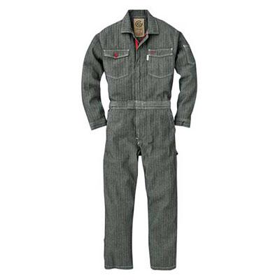 GRACE ENGINEER'S(グレースエンジニアーズ)メンズ長袖つなぎ GE-106 ブラックヘリンボン