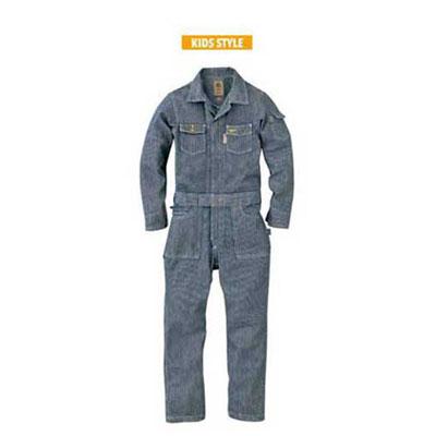 GRACE ENGINEER'S(グレースエンジニアーズ)キッズ長袖つなぎ GE-105 ヒッコリー