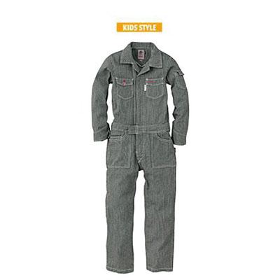 GRACE ENGINEER'S(グレースエンジニアーズ)キッズ長袖つなぎ GE-105 ブラックヒッコリー