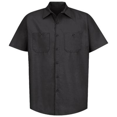 REDKAP(レッドキャップ)インダストリアルワークシャツ(半袖) ブラック