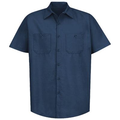 REDKAP(レッドキャップ)インダストリアルワークシャツ(半袖) ネイビー