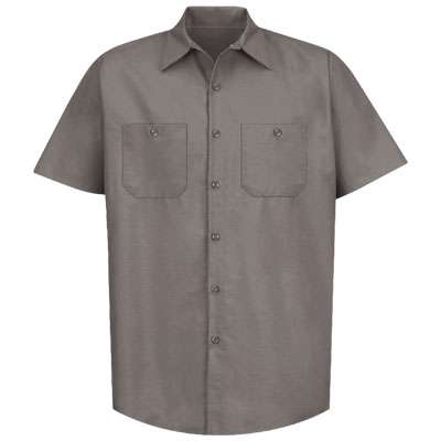 REDKAP(レッドキャップ)インダストリアルワークシャツ(半袖) グレー