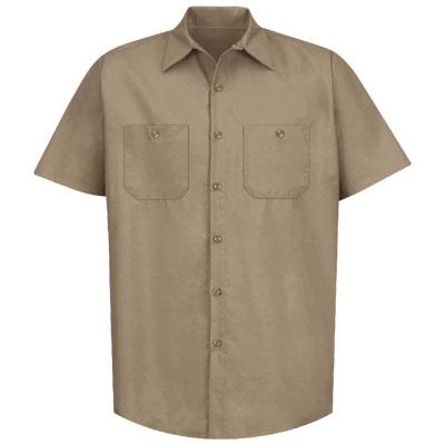 REDKAP(レッドキャップ)インダストリアルワークシャツ(半袖) カーキ