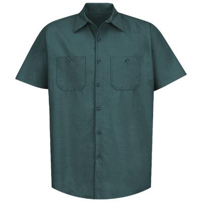 REDKAP(レッドキャップ)インダストリアルワークシャツ(半袖) スプルースグリーン