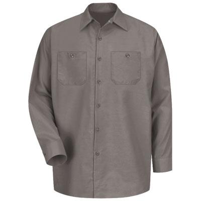 【取寄限定カラー】REDKAP(レッドキャップ)インダストリアルワークシャツ(長袖) グレー