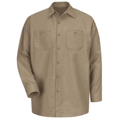 【取寄限定カラー】REDKAP(レッドキャップ)インダストリアルワークシャツ(長袖) カーキ