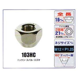 KYO-EI(協永産業)貫通ナット【103HC】21mm,M12×P1.25