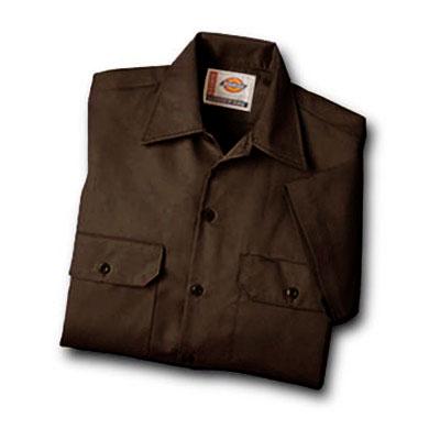 【取寄限定カラー】Dickies(ディッキーズ)ワークシャツ ショートスリーブ<半袖> ダークブラウン