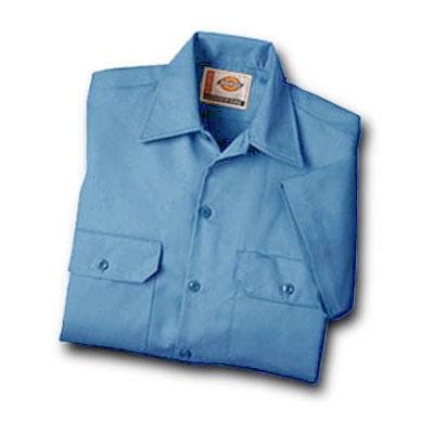 【取寄限定カラー】Dickies(ディッキーズ)ワークシャツ ショートスリーブ<半袖> ライトブルー