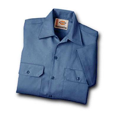 【取寄限定カラー】Dickies(ディッキーズ)ワークシャツ ショートスリーブ<半袖> ガルフブルー