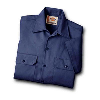 【取寄限定カラー】Dickies(ディッキーズ)ワークシャツ ショートスリーブ<半袖> ネイビーブルー