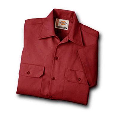 【取寄限定カラー】Dickies(ディッキーズ)ワークシャツ ショートスリーブ<半袖> イングリッシュレッド