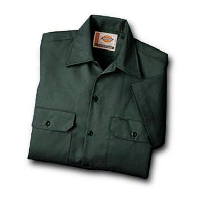 【取寄限定カラー】Dickies(ディッキーズ)ワークシャツ ショートスリーブ<半袖> ハンターグリーン