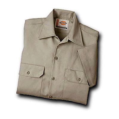 【取寄限定カラー】Dickies(ディッキーズ)ワークシャツ ショートスリーブ<半袖> デザートサンド