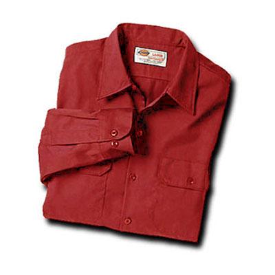【取寄限定カラー】Dickies(ディッキーズ)ワークシャツ ロングスリーブ<長袖> イングリッシュレッド