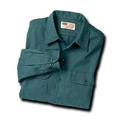 【取寄限定カラー】Dickies(ディッキーズ)ワークシャツ ロングスリーブ<長袖> リンカーングリーン