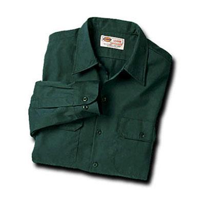 【取寄限定カラー】Dickies(ディッキーズ)ワークシャツ ロングスリーブ<長袖> ハンターグリーン