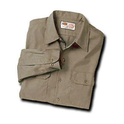 【取寄限定カラー】Dickies(ディッキーズ)ワークシャツ ロングスリーブ<長袖> デザートサンド