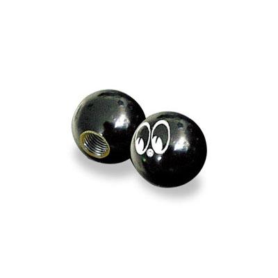 Mooneyes(ムーンアイズ)アイボール バルブキャップ ブラック 2ピース