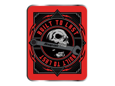 Snap-on(スナップオン)ステッカー「BUILT TO LAST DECAL - SKULL」