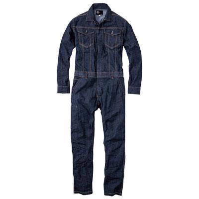 GRACE ENGINEER'S(グレースエンジニアーズ)メンズ長袖つなぎ GE-340 インディゴ スリムタイプ