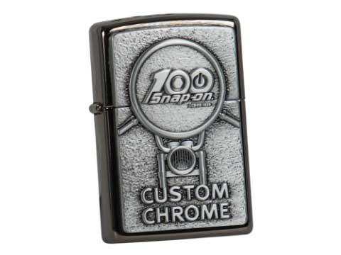 Snap-on(スナップオン)ジッポライター「ZIPPO 100th CUSTOM CHROME LIGHTER」