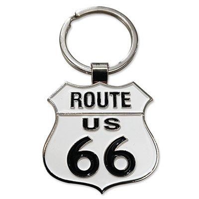Route.66(ルート66)キーホルダー「RT.66 METAL KEYTAG - SHIELD」