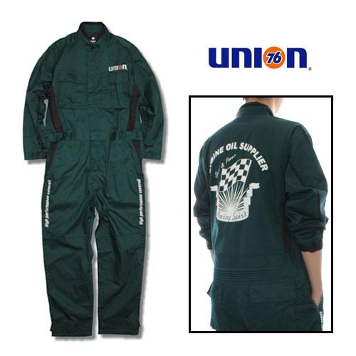 76Lubricants(ユノカル,ユニオン,ナナロク)メカニックカバーオール,長袖ツナギ,グリーン