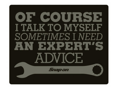 Snap-on(スナップオン)ステッカー「EXPERT'S ADVICE DECAL」