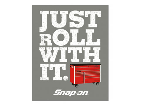 Snap-on(スナップオン)ステッカー「ROLL WITH IT DECAL」