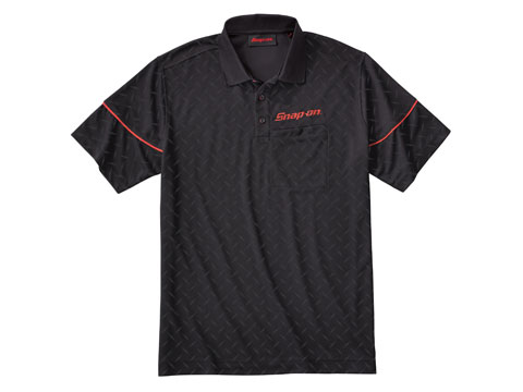 Snap-on(スナップオン)ポロシャツ「DEBOSSED DIAMOND PLATE POLO」